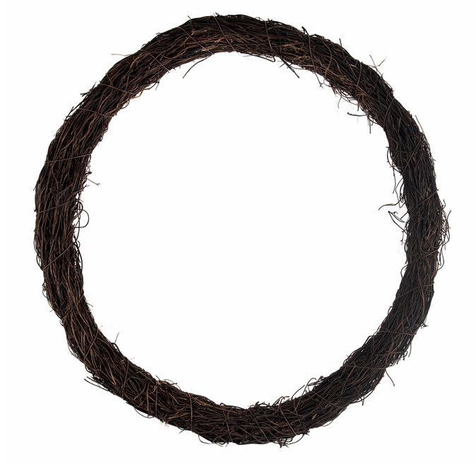 Wreath Base: Rattan: Dark: 40cm / 15.7in