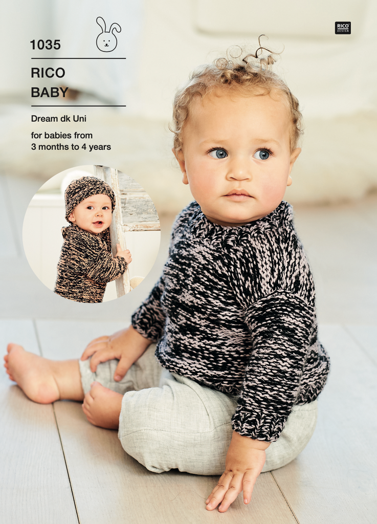 Baby Dream Uni Pattern 1035 Sweater & Hat