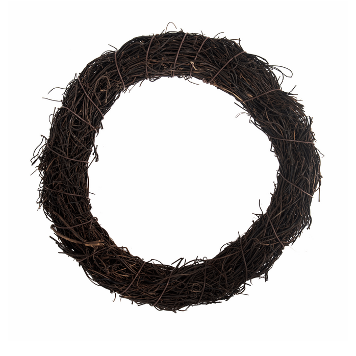 Wreath Base: Rattan: Dark: 20cm /