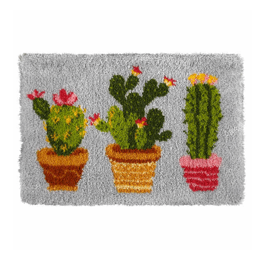 Latch Hook Kit: Rug: Cactus
