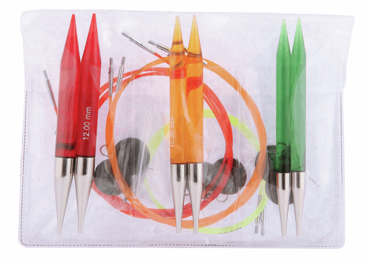 Trendz Circular Knitting Needles Interchangeable : CHUNKY Set