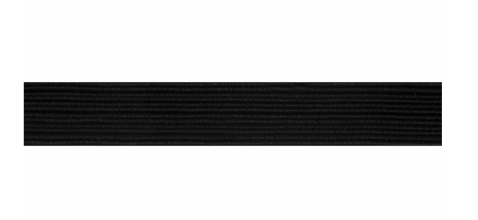 Black Elastic 6mm per metre
