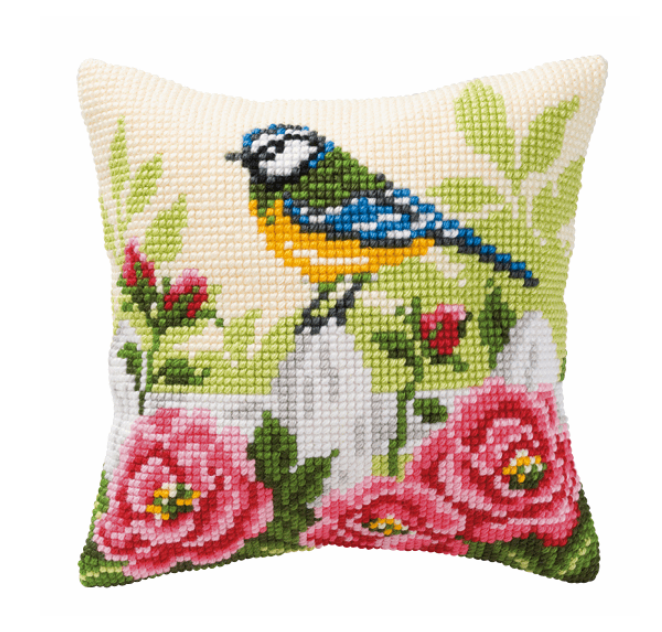 Cross Stitch Cushion Kit: Blue Tit