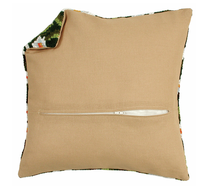 Cushion Back with Zipper: Natural: 45 x 45cm (18 x 18in)