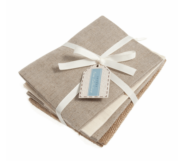 Natural Fat Quarters Fabric : 4 pack