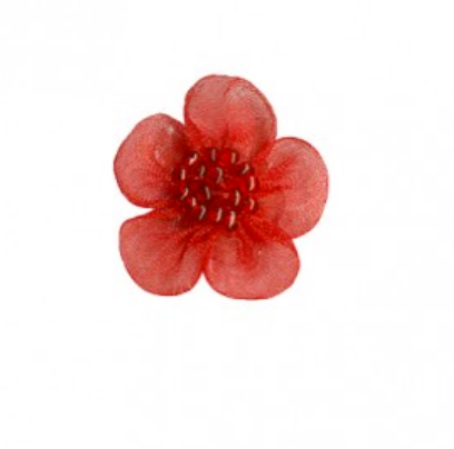 Beaded muslin small flowers x 10 : 097 Red
