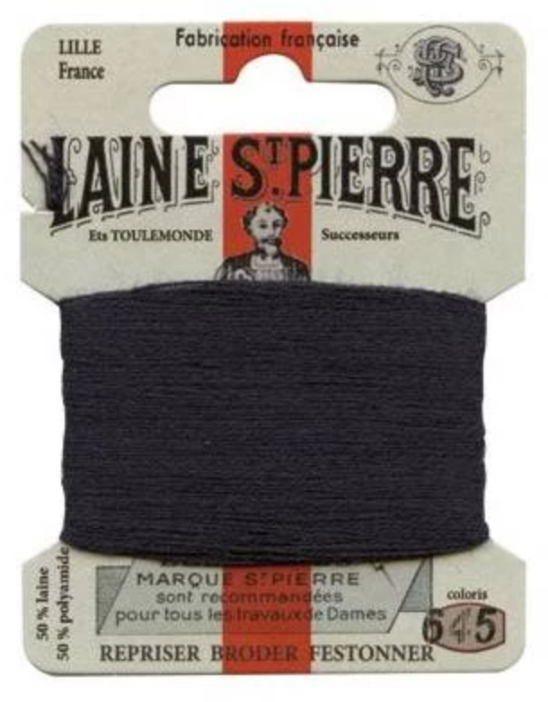 Laine St Pierre Darning Wool Blue-black 645