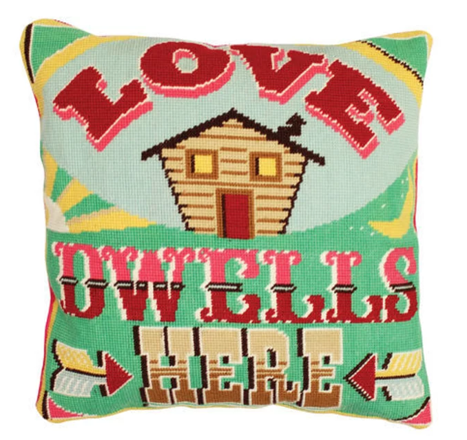 Emily Peacock Love Dwells Here Tapestry Cushion Front Kit