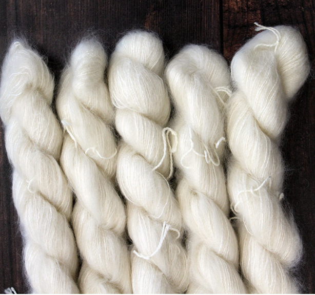 Un-dyed Kid Mohair & Silk Mini Skein 20g