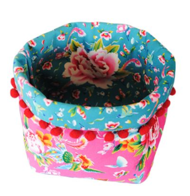 Velvet Basket Sewing Kit : Medium Shanghai