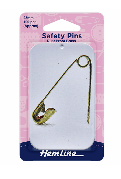 Safety Pins in a Tin