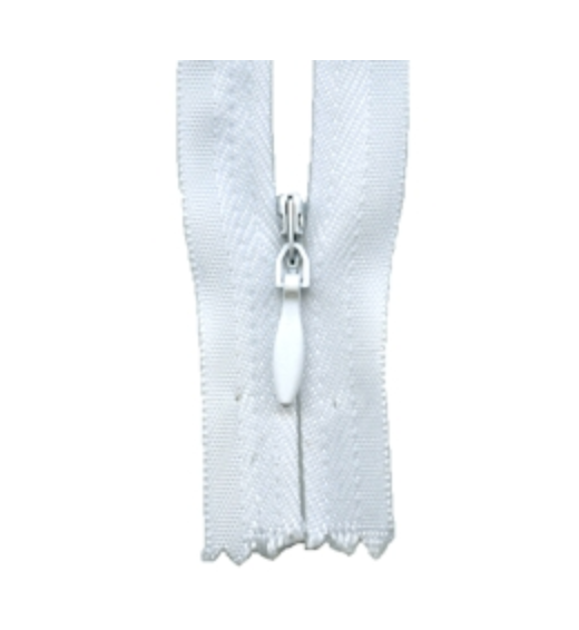 'Make A Zipper' Zip (Invisible Style) : White : per half metre