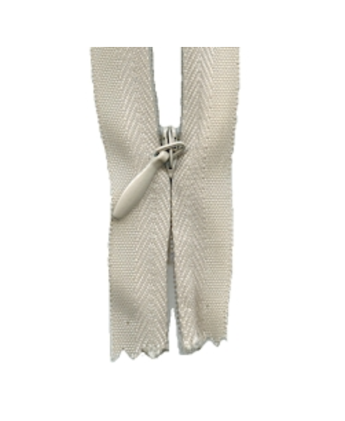 'Make A Zipper' Zip (Invisible Style) : Beige : per half metre