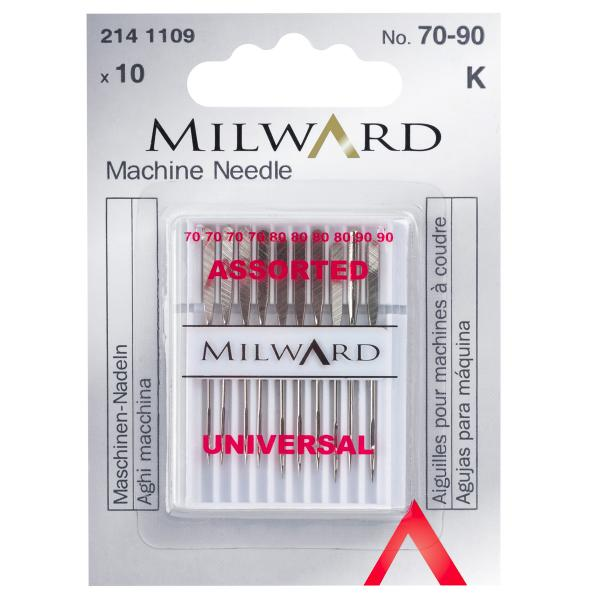 Sewing Machine Needles: Universal: 70/10(4), 80/12(4), 90/14(2)