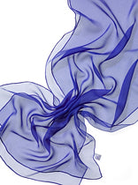 Silk Chiffon Scarf for nuno  felting Royal Blue