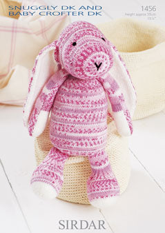 Sirdar Knitting Pattern Bunny Snuggly and Crofter DK 1456