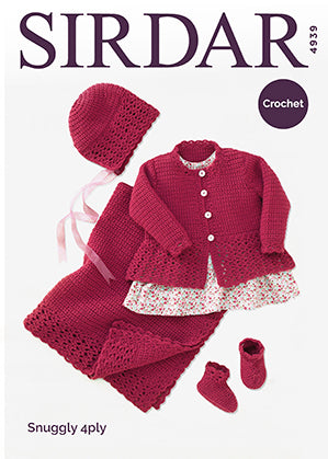 Sirdar Snuggly 4-ply Pattern Crochet Baby Set