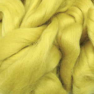 100g Soft Yellow Olive Merino wool tops for felting & knitting