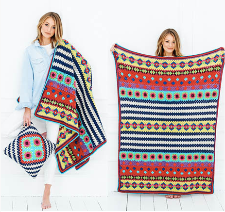 Stylecraft Boho Blanket & Cushion Pattern 9528