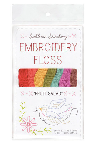 Sublime Floss Embroidery Cotton Selection : Fruit Salad