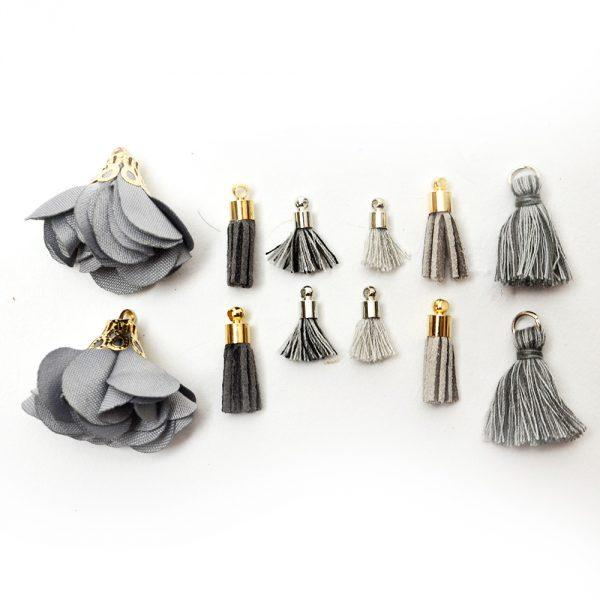 Tassel Assortment - Charcoal by Dress it Up