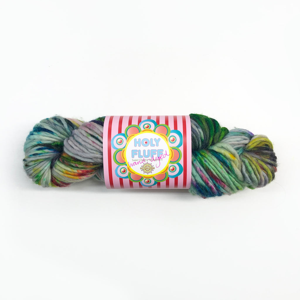 Holy Fluff Hand Dyed Super Chunky 200g : 'The Hills Are Alive with the Sound of Music'
