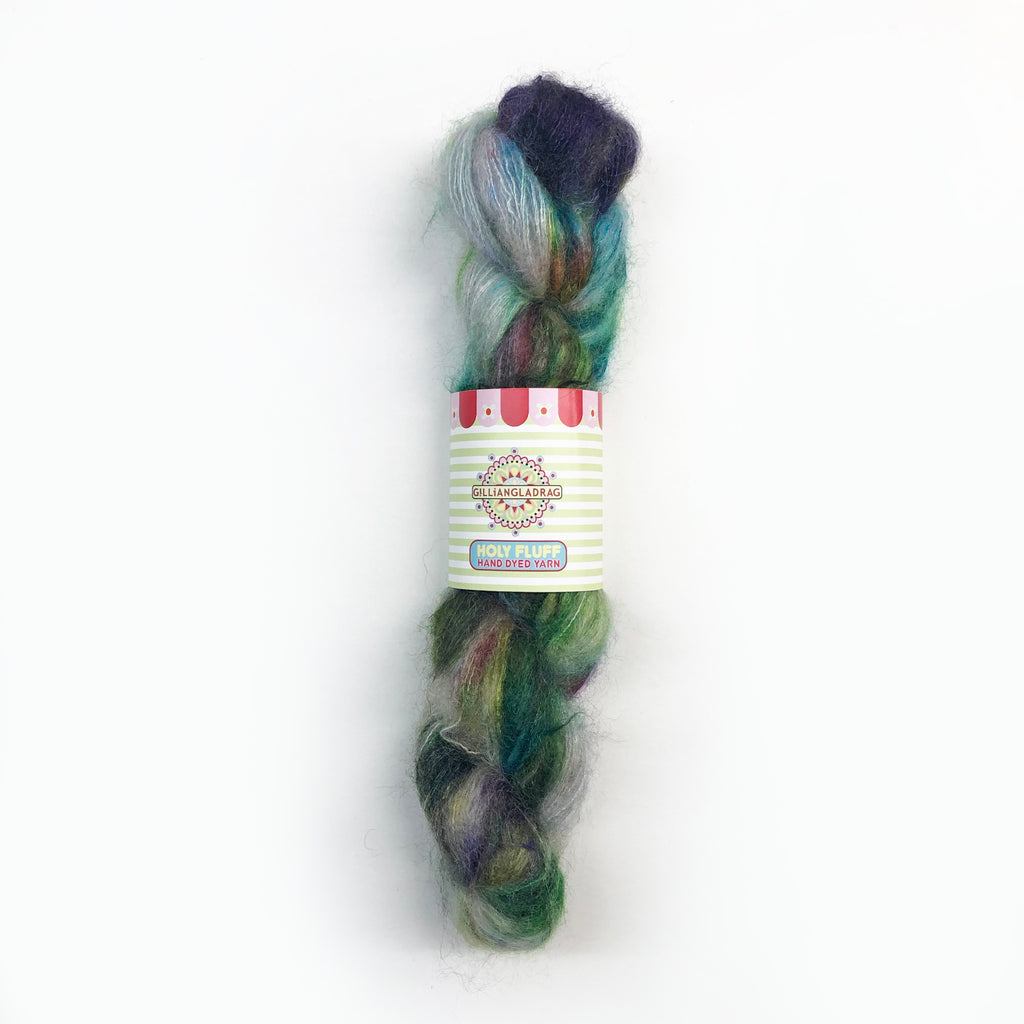 Gilliangladrag Holy Fluff Hand Dyed Kid Silk Lace : 'The Hills Are Alive with the Sound of Music'