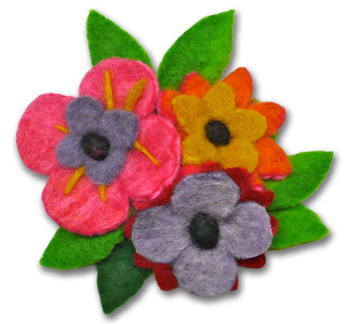 Tussie Mussie Flower Corsage Felting Kit