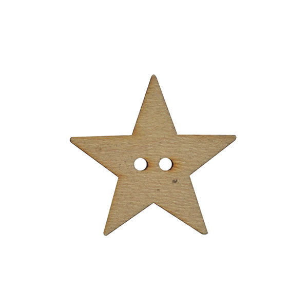 Wooden star button 15mm