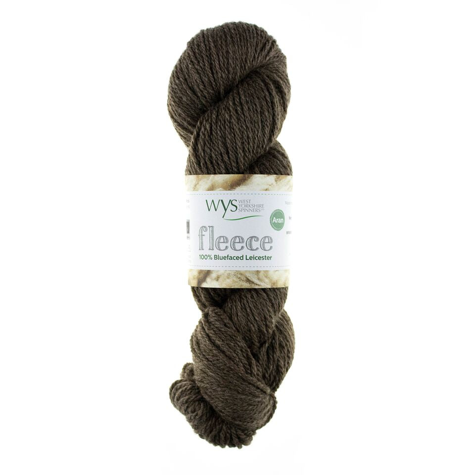 WYS Blue Faced Leicester Fleece Aran 100g Brown 003