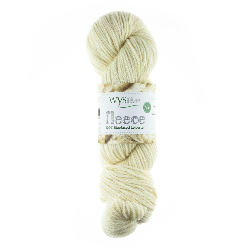 WYS Blue Faced Leicester Fleece Aran 100g Ecru 001
