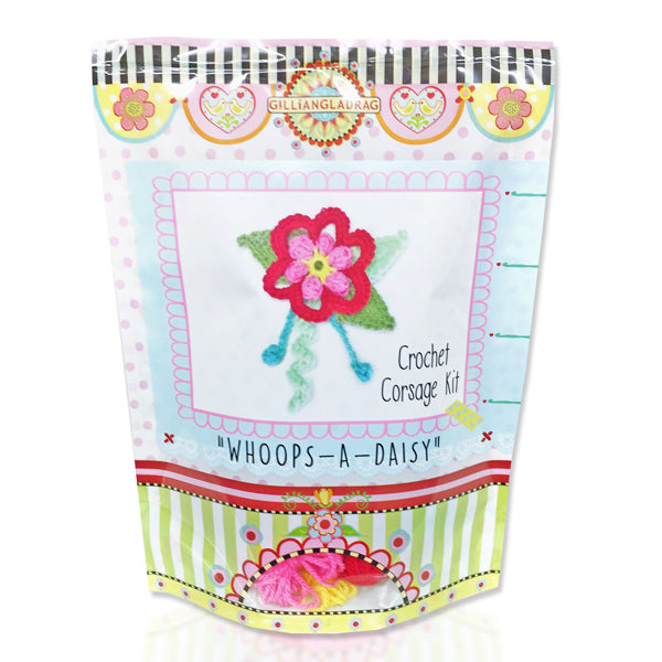 Whoops-A-Daisy Corsage Crochet Kit