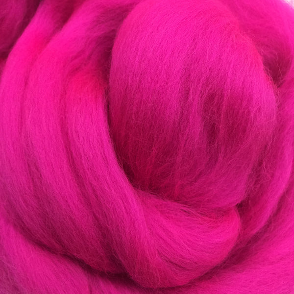 100g Neon Pink Merino Wool Tops for Felting Spinning Knitting