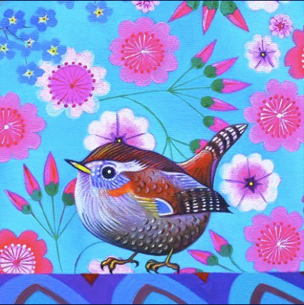 Wren Greetings Card by Jane Tattersfield