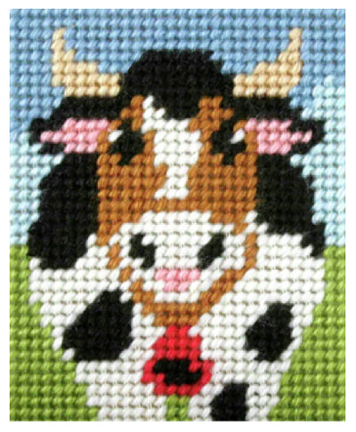 Kids Embroidery Kit - Moo Cow
