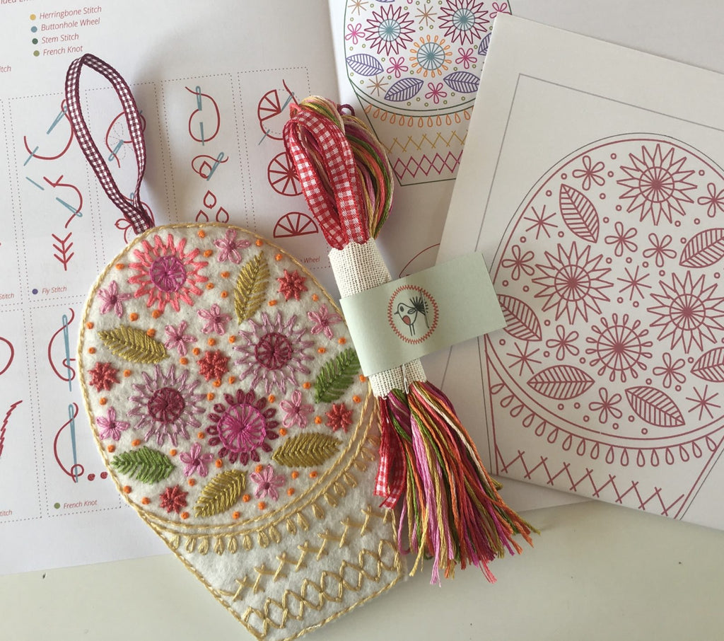 Basket – Scissor and Needle Keeper Embroidery Kit