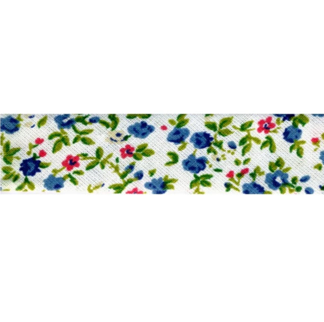 Liberty Print Bias Binding 16 blue floral
