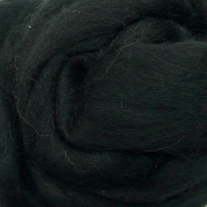 100g Black Merino wool tops for felting & giant knitting