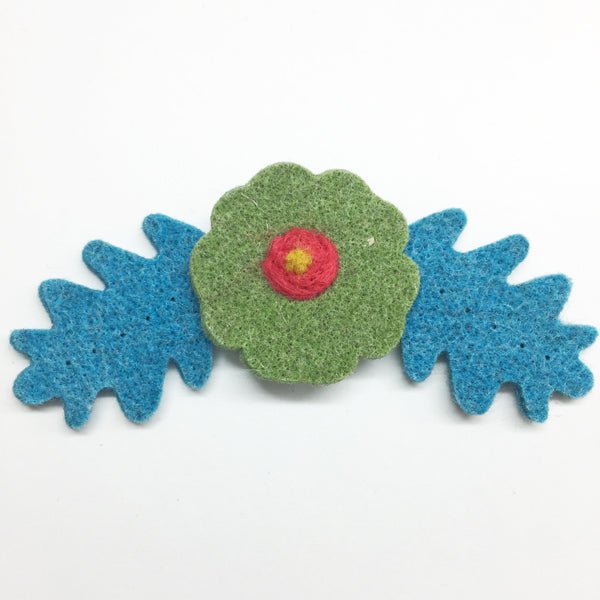 Large Wool Felt Flower 5cm Orange