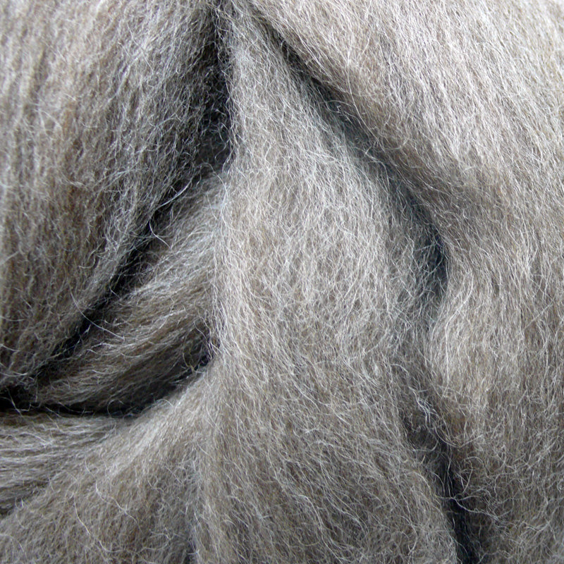 Brown BFL wool tops for felting
