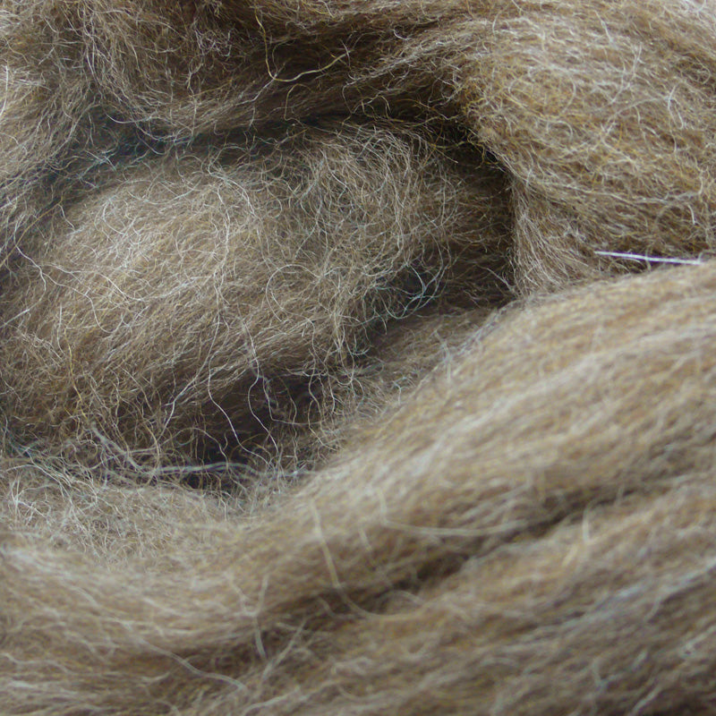 Brown Moorit wool tops for felting