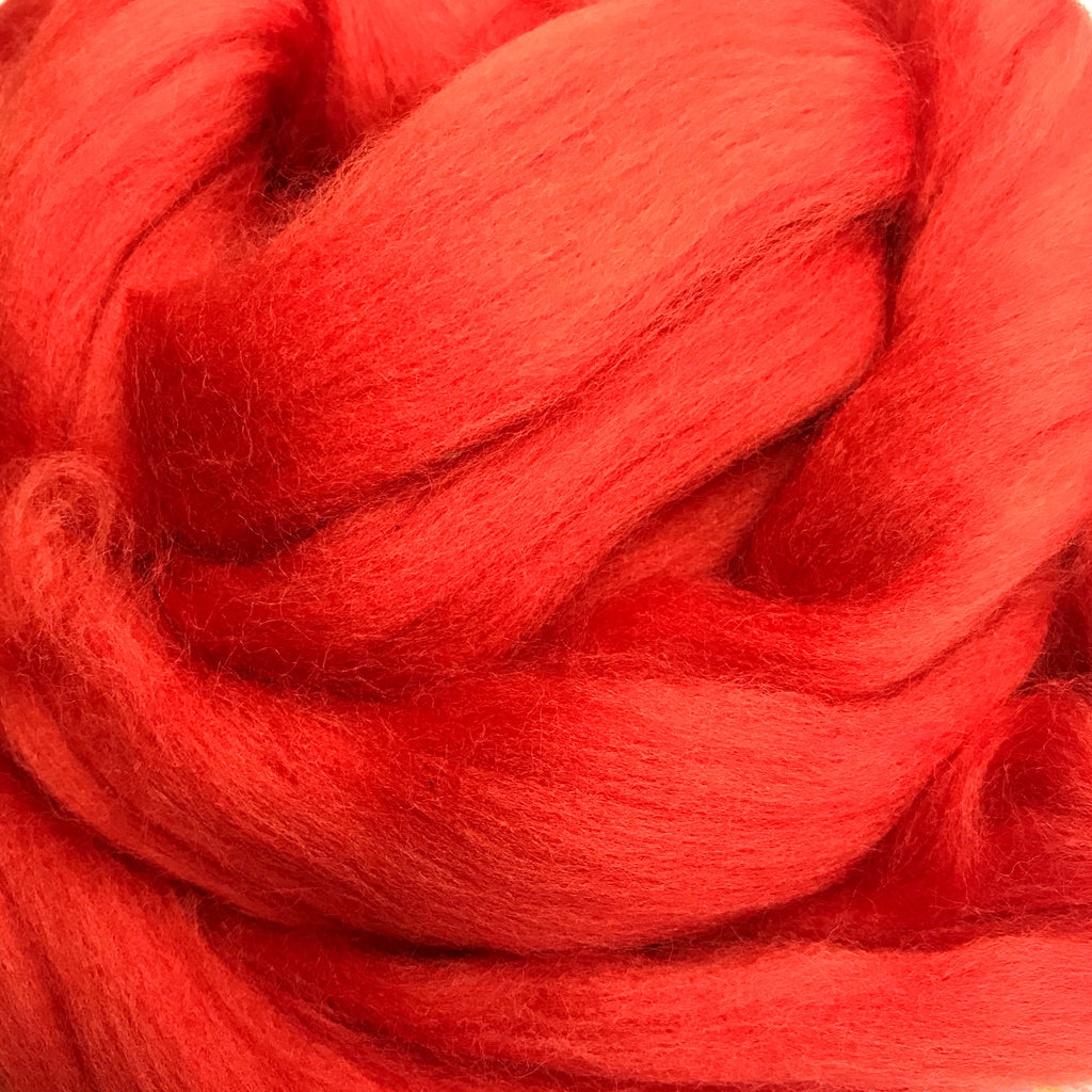 100g Burnt Orange Merino wool tops for Felting & Giant Knitting