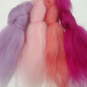 Candy Girl merino wool tops inspiration pack for felting