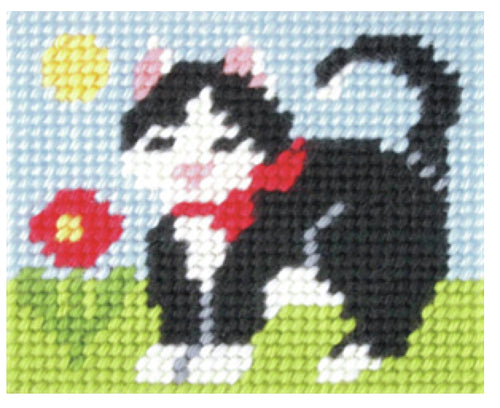 Kids Embroidery Kit - Kitten
