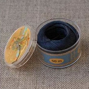 Linen Thread Navy Blue