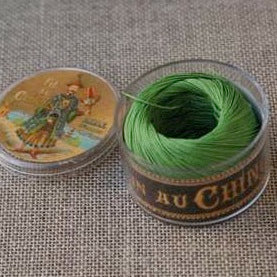 Linen Thread Bright Green