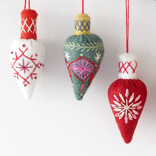 Cone Bauble Embroidery Kit