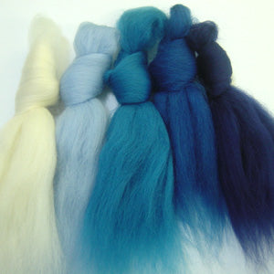 Cornish Waves merino wool tops inspiration pack for felting