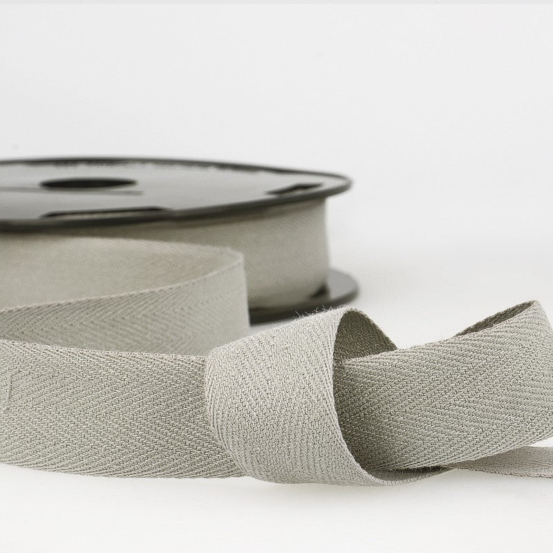 Cotton Twill Tape 031 Grey Per Metre