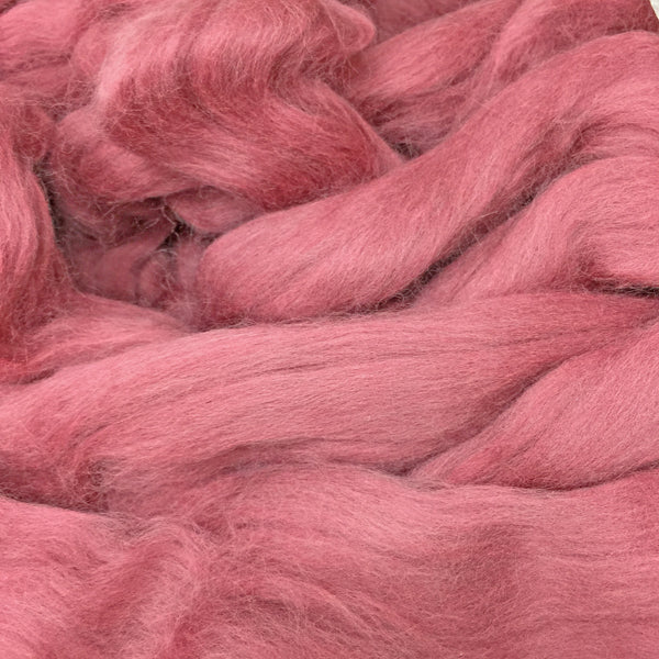 Dusty Pink Merino wool tops for felting & giant knitting